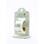 Little B - Decorative Paper Tape - Silver Foil Doily - 25mm