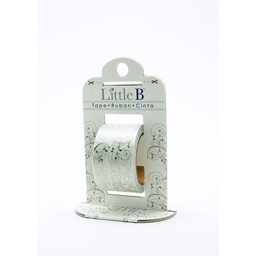 Little B - Decorative Paper Tape - Silver Foil Flourish - 25mm