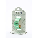 Little B - Decorative Paper Tape - Silver Foil Polka Dots - 15mm