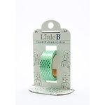 Little B - Decorative Paper Tape - Silver Foil Polka Dots - 15mm