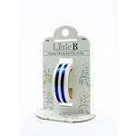 Little B - Decorative Paper Tape - Blue Foil Mono Stripe - 15mm