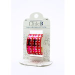 Little B - Decorative Paper Tape - Red Foil Gingham - 25mm