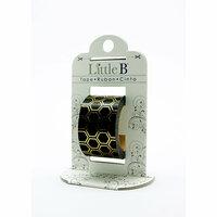 Little B - Decorative Paper Tape - Gold Foil Black Honeycomb - 25mm