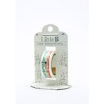 Little B - Decorative Paper Tape - Silver Foil Music Notes - 15mm