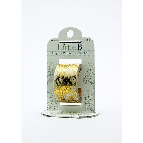 Little B - Decorative Paper Tape - Gold Foil Toile - 25mm