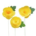 Little B - Paper Flower - Petal Strip Kits - Yellow Rose