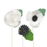 Little B - Paper Flower - Petal Strip Kits - White Anemone