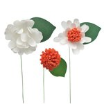 Little B - Paper Flower - Petal Strip Kits - White Daisy