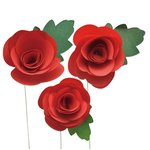 Little B - Paper Flower - Petal Strip Kits - Red Rose