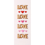 Little B - 3 Dimensional Stickers - Mini - Love