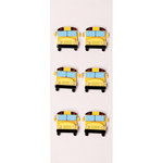 Little B - 3 Dimensional Stickers - Mini - School Bus