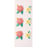 Little B - 3 Dimensional Stickers - Mini - Tropical Flowers