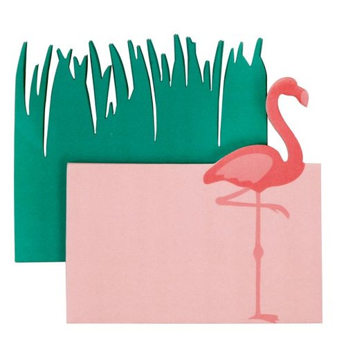 Little B - Decorative Paper Notes - Flamingo and Grass