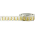 Little B - Decorative Paper Tape - Gold Foil Pineapple - 15mm