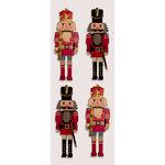 Little B - Christmas Collection - Decorative 3 Dimensional Stickers - Classic Nutcrackers - Mini