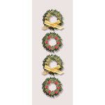 Little B - Christmas Collection - Decorative 3 Dimensional Stickers - Boxwood Wreathes - Mini