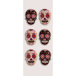 Little B - Halloween Collection - Decorative 3 Dimensional Stickers - Sugar Skulls - Mini