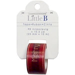 Little B - Christmas Collection - Decorative Paper Tape - Stitched Merry Christmas - 25mm