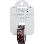 Little B - Christmas Collection - Decorative Paper Tape - Gingerbread Flourish - 15mm