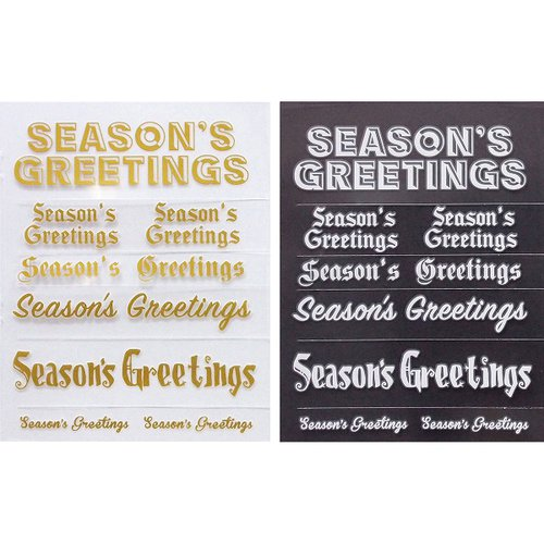 Little B - Christmas Collection - Rub Ons - Season's Greetings