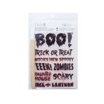 Little B - Halloween Collection - Rub Ons - Boo Halloween Phrases