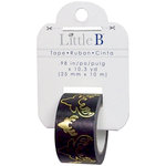 Little B - Christmas Collection - Decorative Paper Tape - Bucks Gold Foil - 25mm