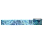 Little B - Decorative Paper Tape - Blue and Green Pattern - 25mm