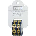 Little B - Decorative Paper Tape - Gold Foil 2 Chains - 25mm