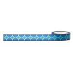 Little B - Decorative Paper Tape - Blue and Green Burst - 15mm