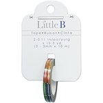 Little B - Decorative Paper Tape - Silver Foil Multi Color Squares - 3mm
