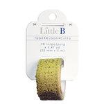 Little B - Decorative Paper Tape - Gold Glitter Lace - 25mm