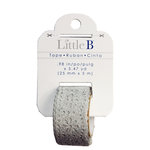 Little B - Decorative Paper Tape - Silver Glitter Lace - 25mm