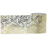 Little B - Decorative Paper Tape - Gold Foil Roses - 46mm