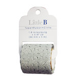 Little B - Decorative Paper Tape - Silver Glitter Lace Deco - 46mm