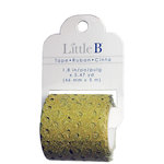 Little B - Decorative Paper Tape - Gold Glitter Lace Deco - 46mm
