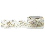 Little B - Decorative Paper Tape - Gold Foil Beach Die Cut - 25mm