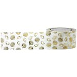Little B - Decorative Paper Tape - Gold Foil Seashell - 25mm