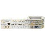 Little B - Decorative Paper Tape - Gold and Silver Foil Wedding Word Play - 25mm