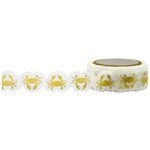 Little B - Decorative Paper Tape - Gold Foil Crabs Die Cut - 15mm