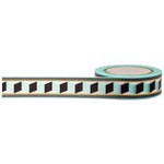 Little B - Decorative Paper Tape - Gold Foil Accordion Tribal - 15mm