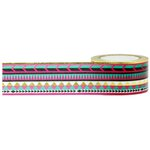 Little B - Decorative Paper Tape - Gold Foil Tribal - 25mm