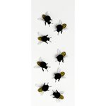 Little B - Decorative 3 Dimensional Stickers - Yellowjackets - Mini