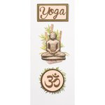 Little B - Decorative 3 Dimensional Stickers - Yoga - Mini