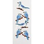 Little B - Decorative 3 Dimensional Stickers - Blue Jays - Mini