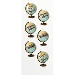 Little B - Decorative 3 Dimensional Stickers - Globe Sentiments - Mini