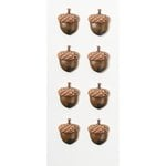 Little B - Decorative 3 Dimensional Stickers - Acorns - Mini
