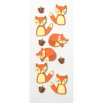 Little B - Decorative 3 Dimensional Stickers - Foxes - Mini