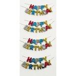Little B - Decorative 3 Dimensional Stickers - Happy Birthday - Mini