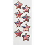 Little B - Decorative 3 Dimensional Stickers - US Flag Stars - Mini