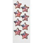 Little B - Decorative 3 Dimensional Stickers - US Flag Stars - Mini